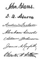 Presidential Signatures That Feature The Capital A